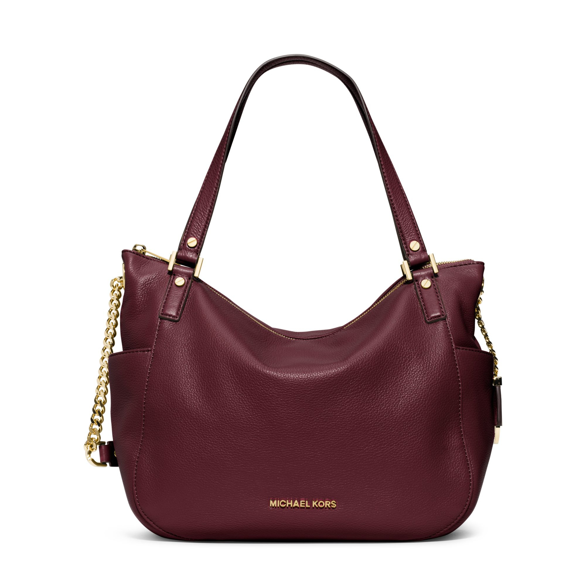 Michael kors Chandler Large Leather Tote in Purple | Lyst