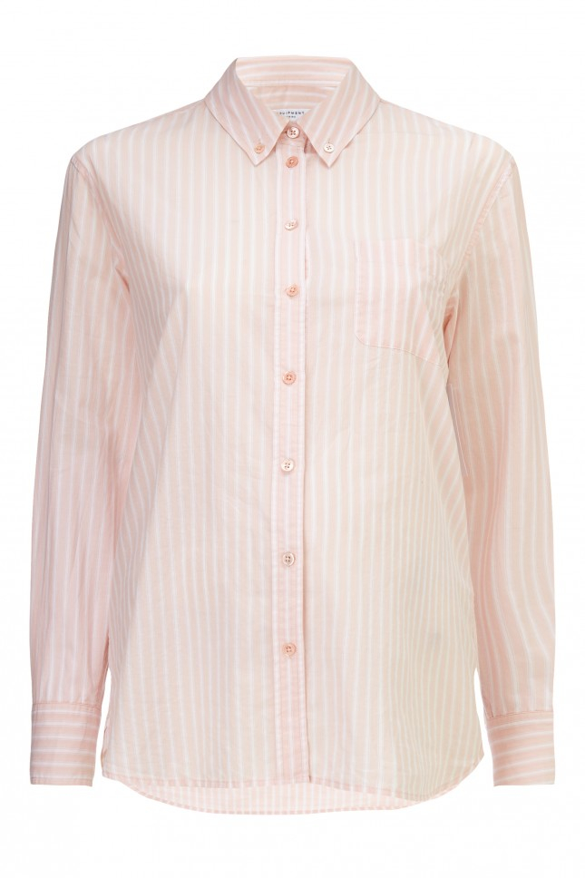 Equipment Striped Button Down Cotton Shirt In Pink Lyst