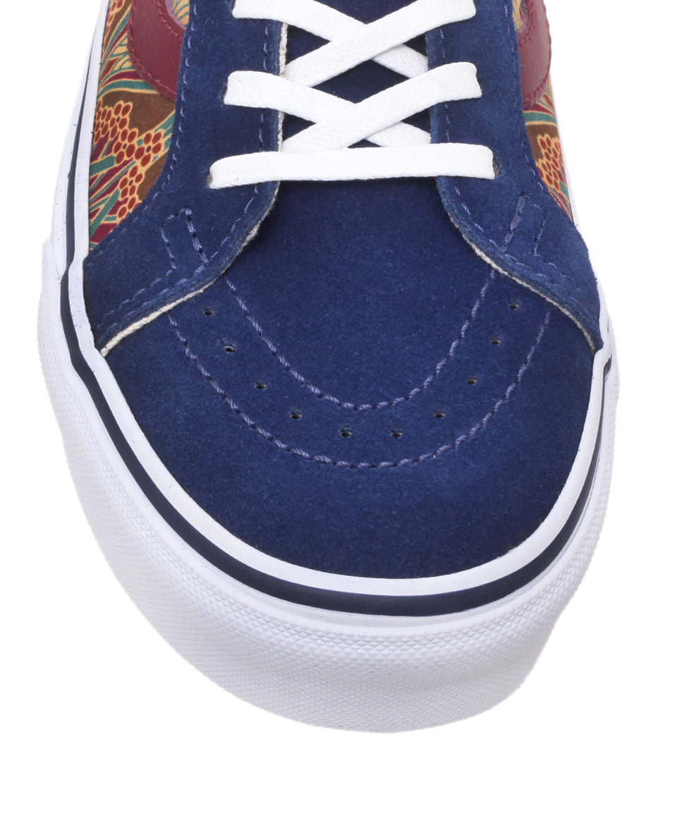 755f0cedf8 Lyst - Vans Blue Sk8hi Ianthe Print High Top Trainers in Blue for Men