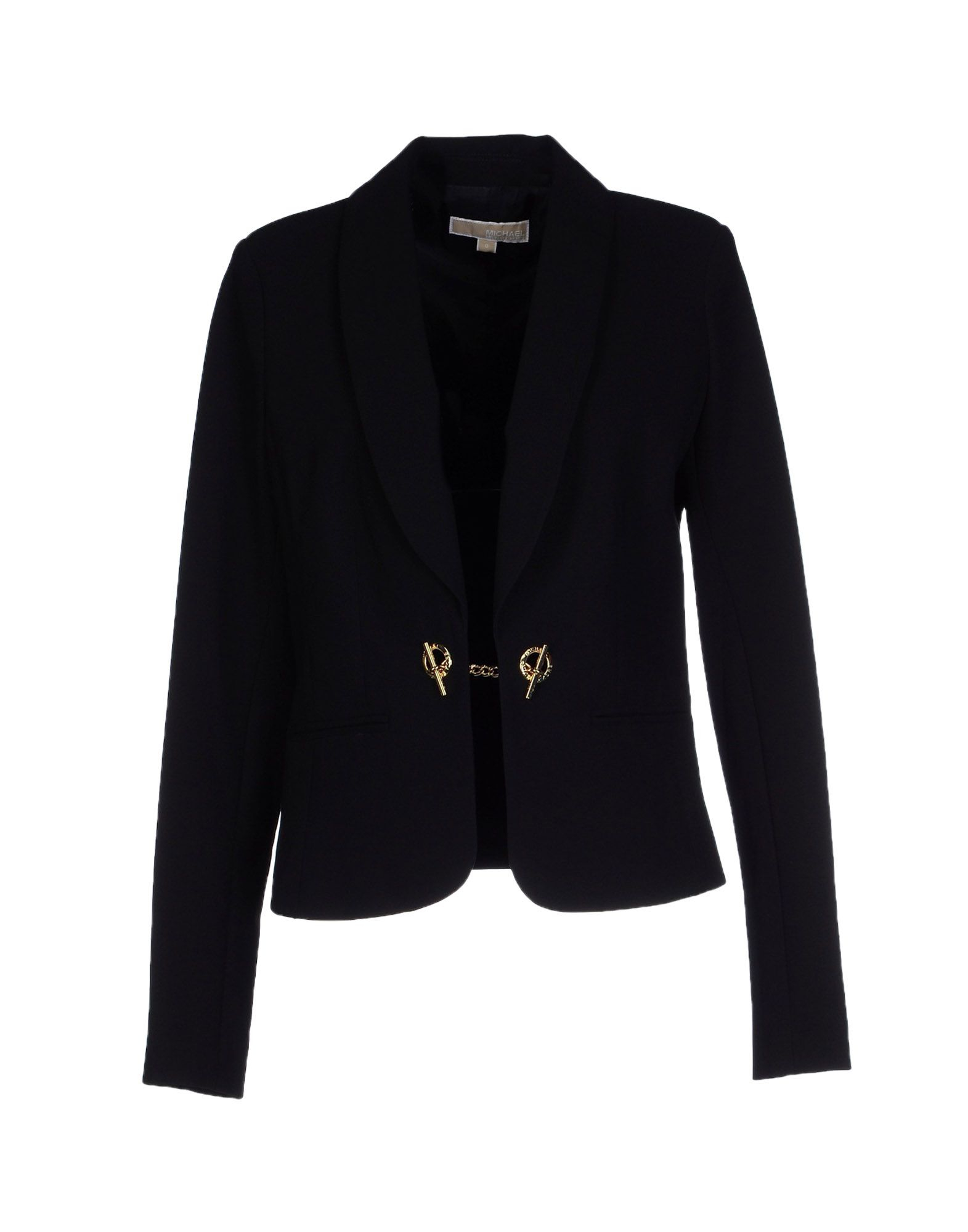 lyst michael michael kors blazer in black. Black Bedroom Furniture Sets. Home Design Ideas