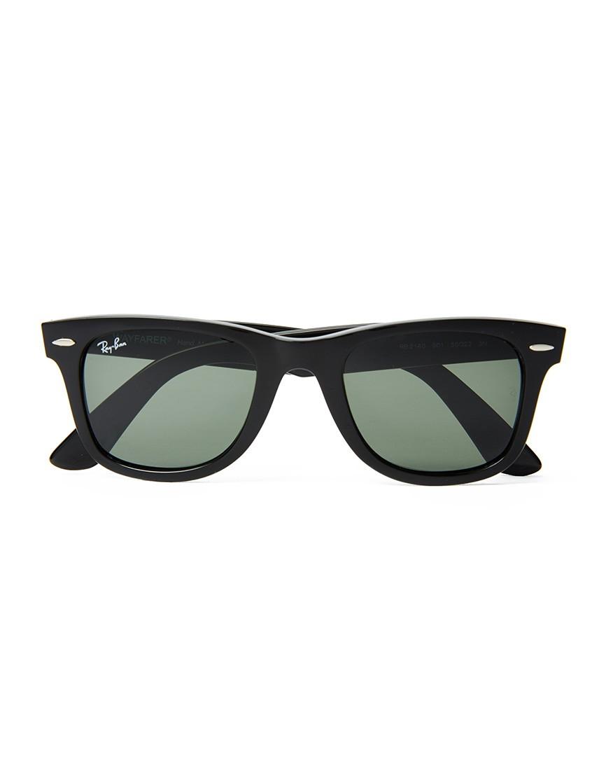 lyst ray ban wayfarer sunglasses large rb2140 901 black. Black Bedroom Furniture Sets. Home Design Ideas