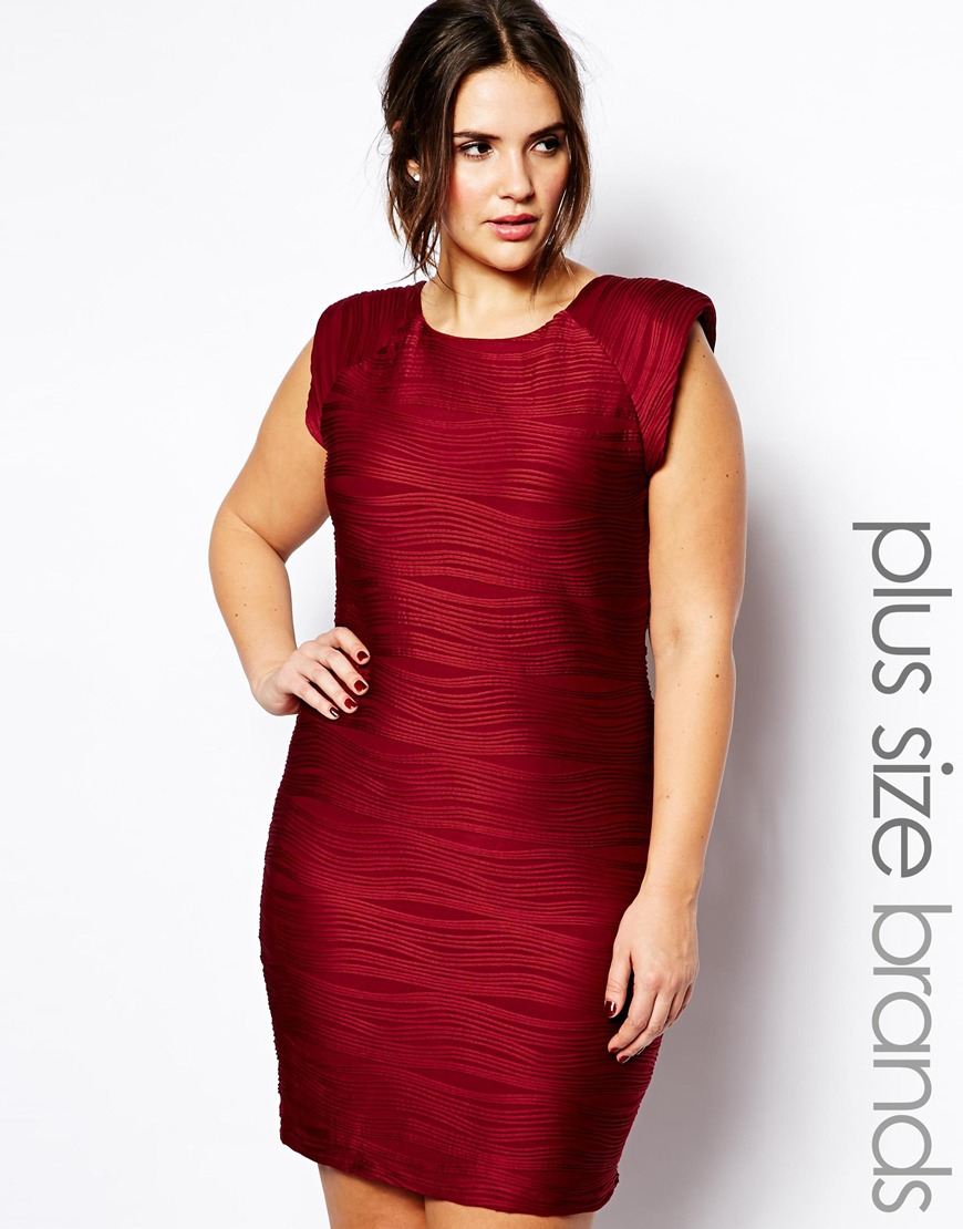 Black and red plus size cocktail dress