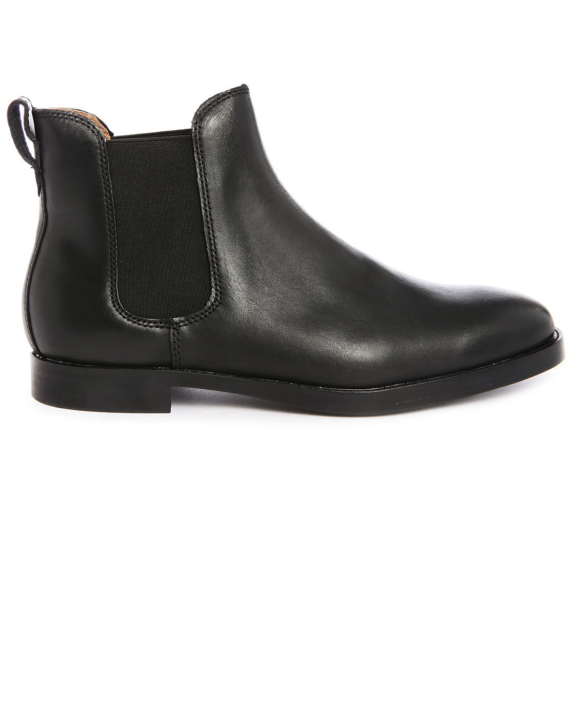polo ralph dillian black leather chelsea boots in