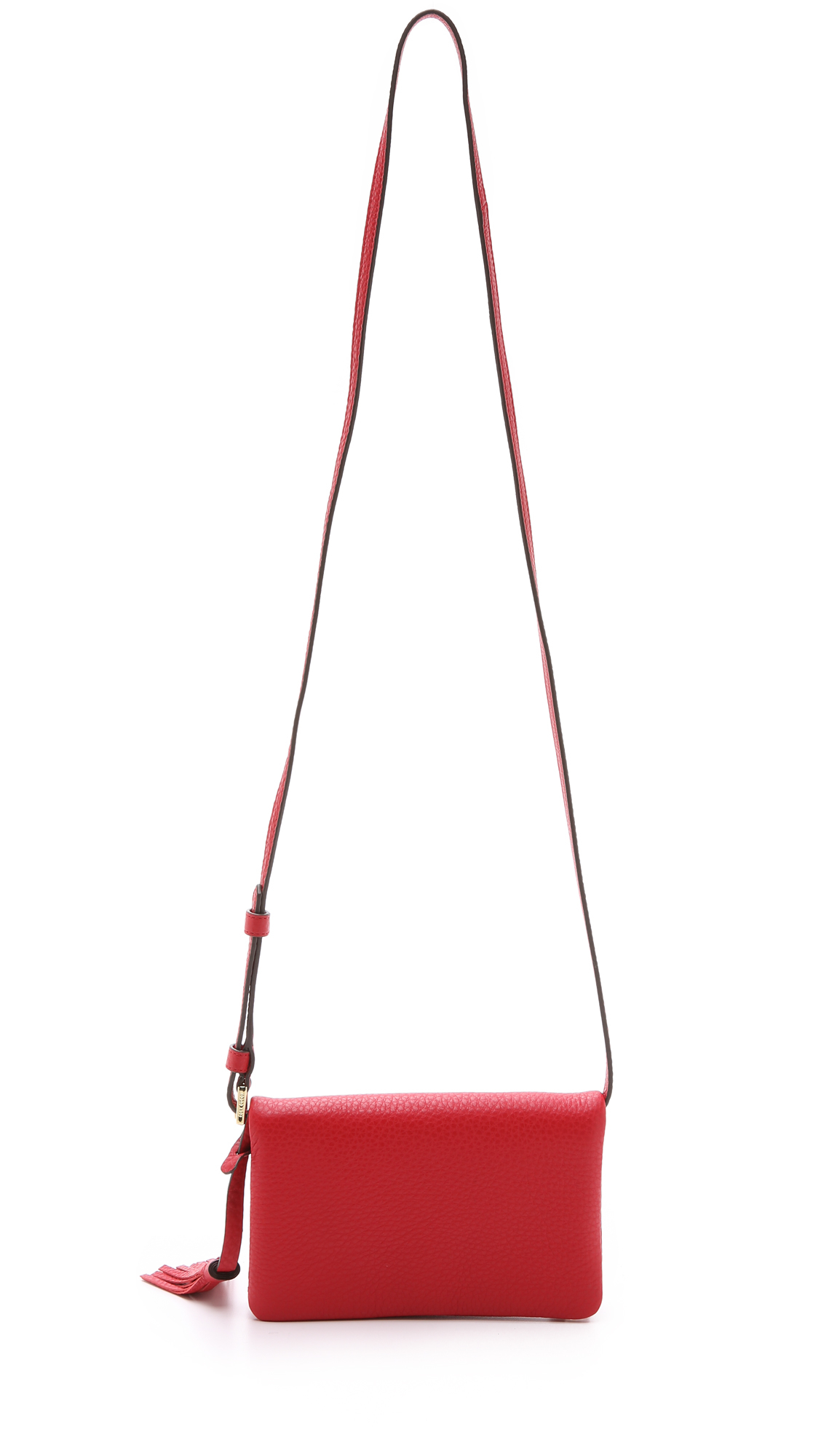 Tory burch Robinson Mini Fold Over Bag - Tiger's Eye in Red | Lyst