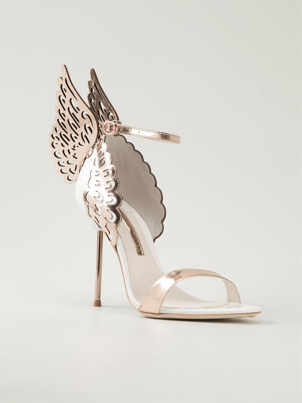 Sophia Webster Evangeline Sandals In Metallic Lyst