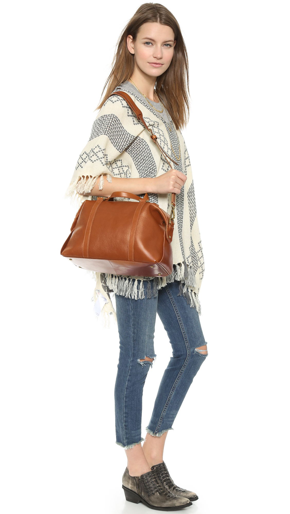 Lyst Madewell Glasgow Satchel English Saddle In Brown