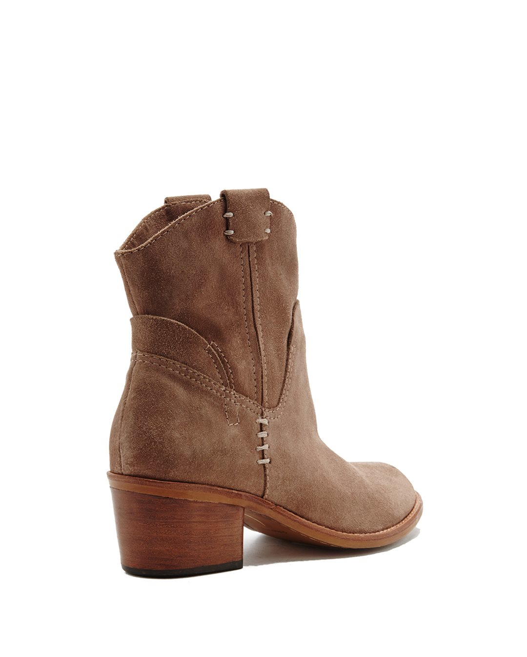 dolce vita grayden suede ankle boots in brown taupe lyst