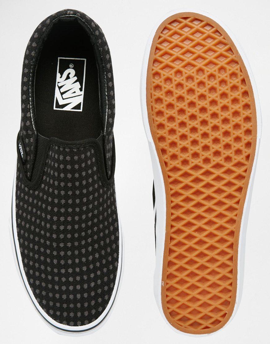 b3e2bb921c30a5 Vans Classic Slip-on Wool Dots Plimsolls - Black in Black for Men - Lyst