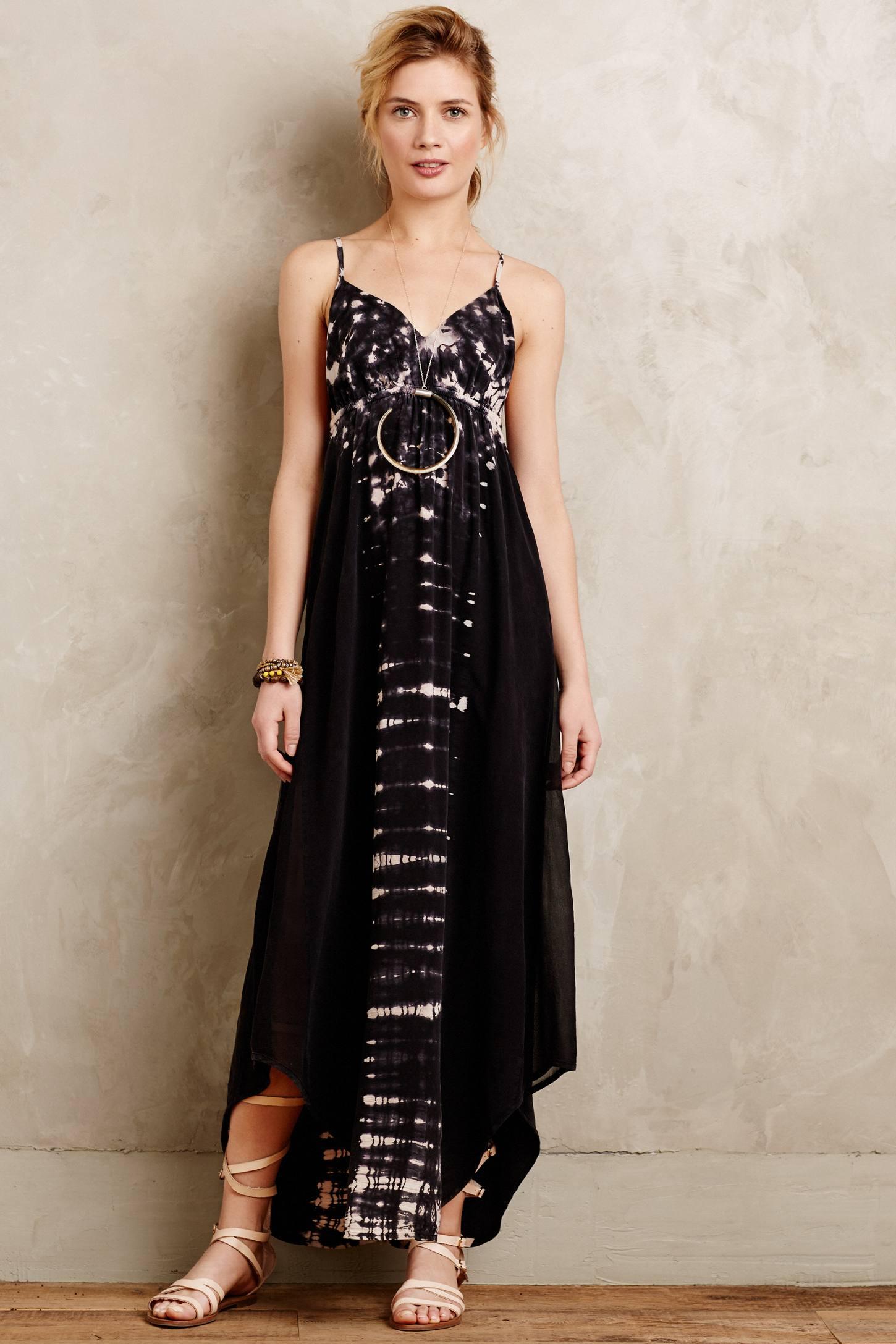 Lyst Gypsy 05 Viha Tie Dye Maxi Dress In Black