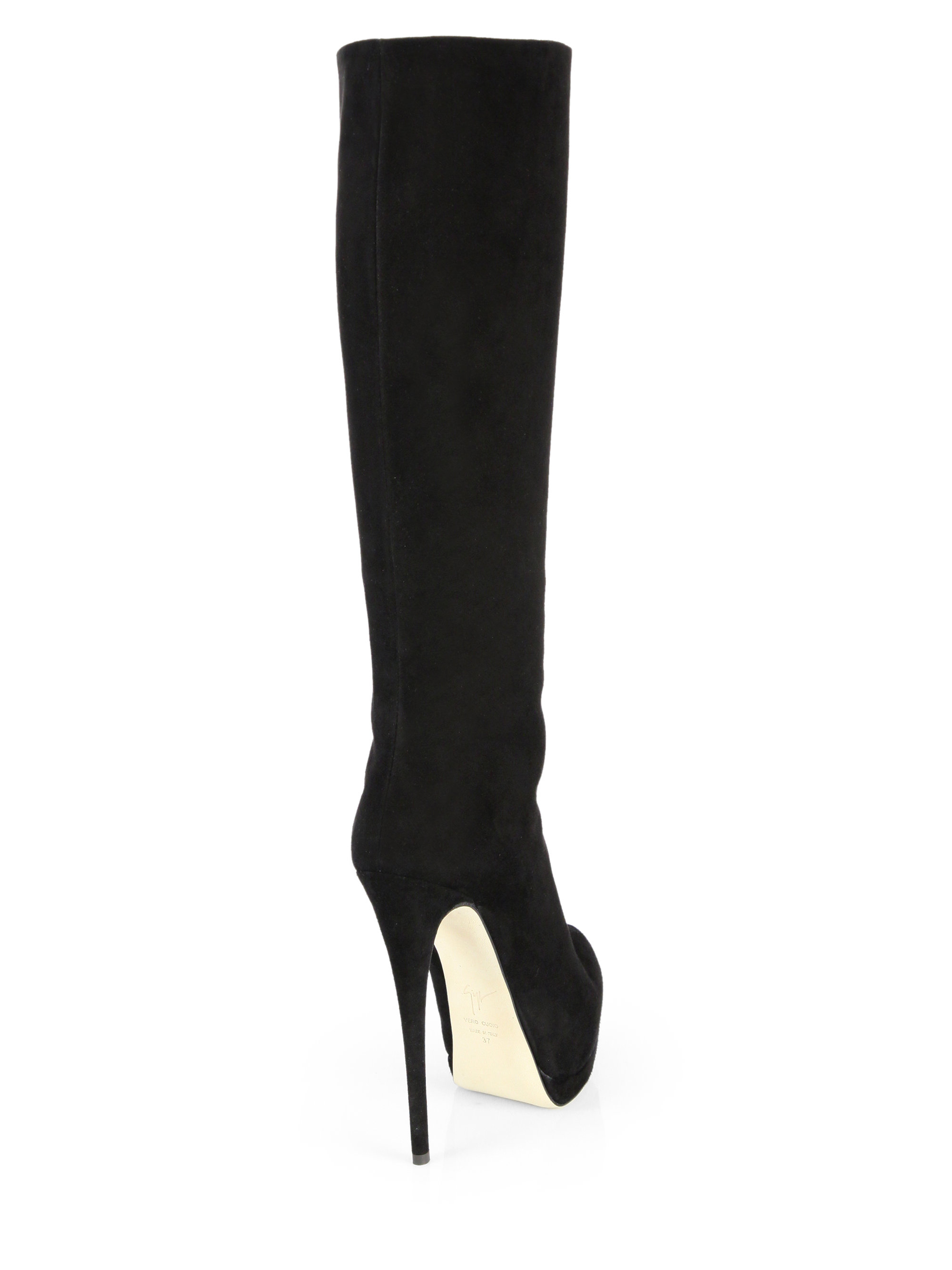 Giuseppe Zanotti Suede Knee-High Boots w/ Tags
