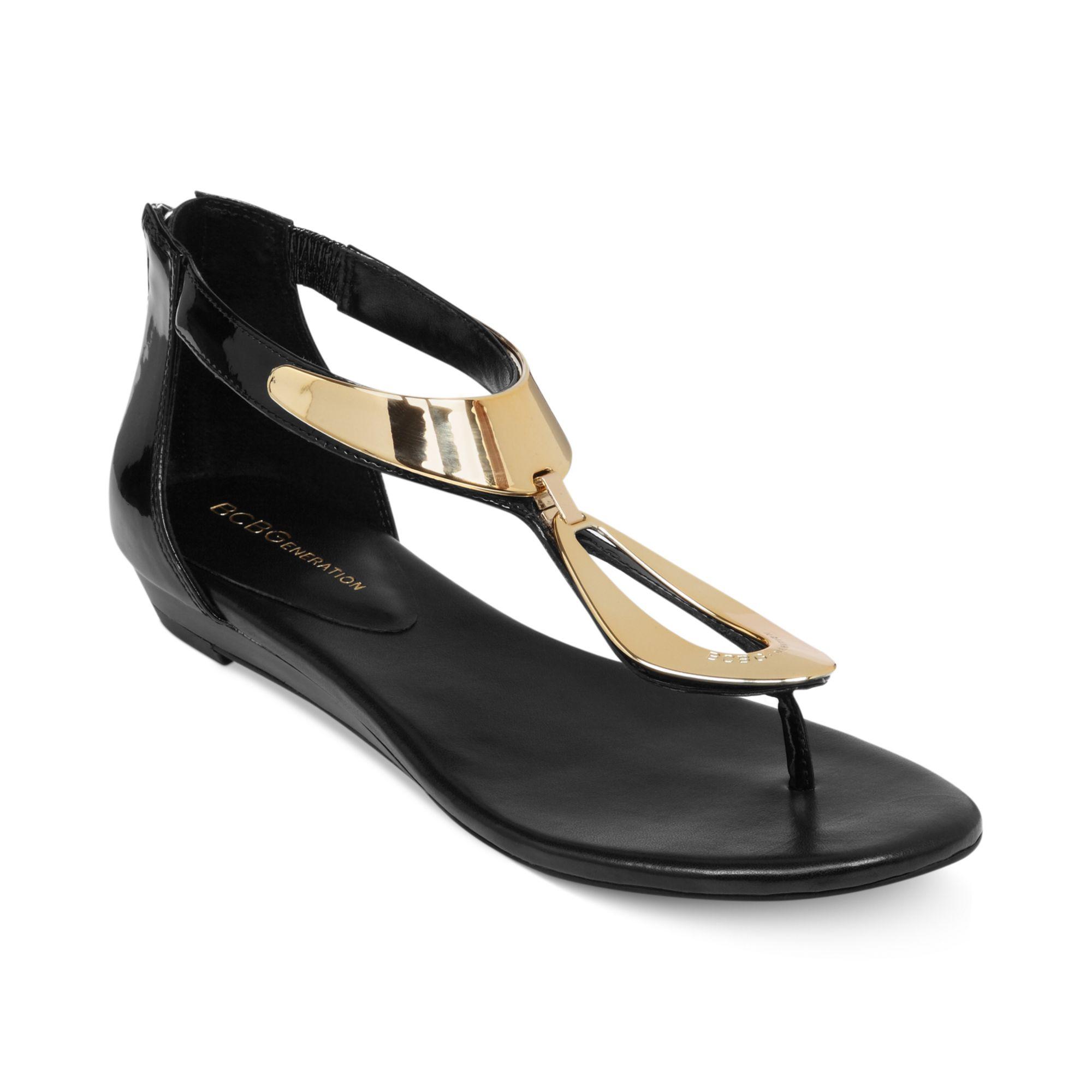 65c64d2b18a7 Lyst - BCBGeneration Anais Flat Thong Sandals in Black