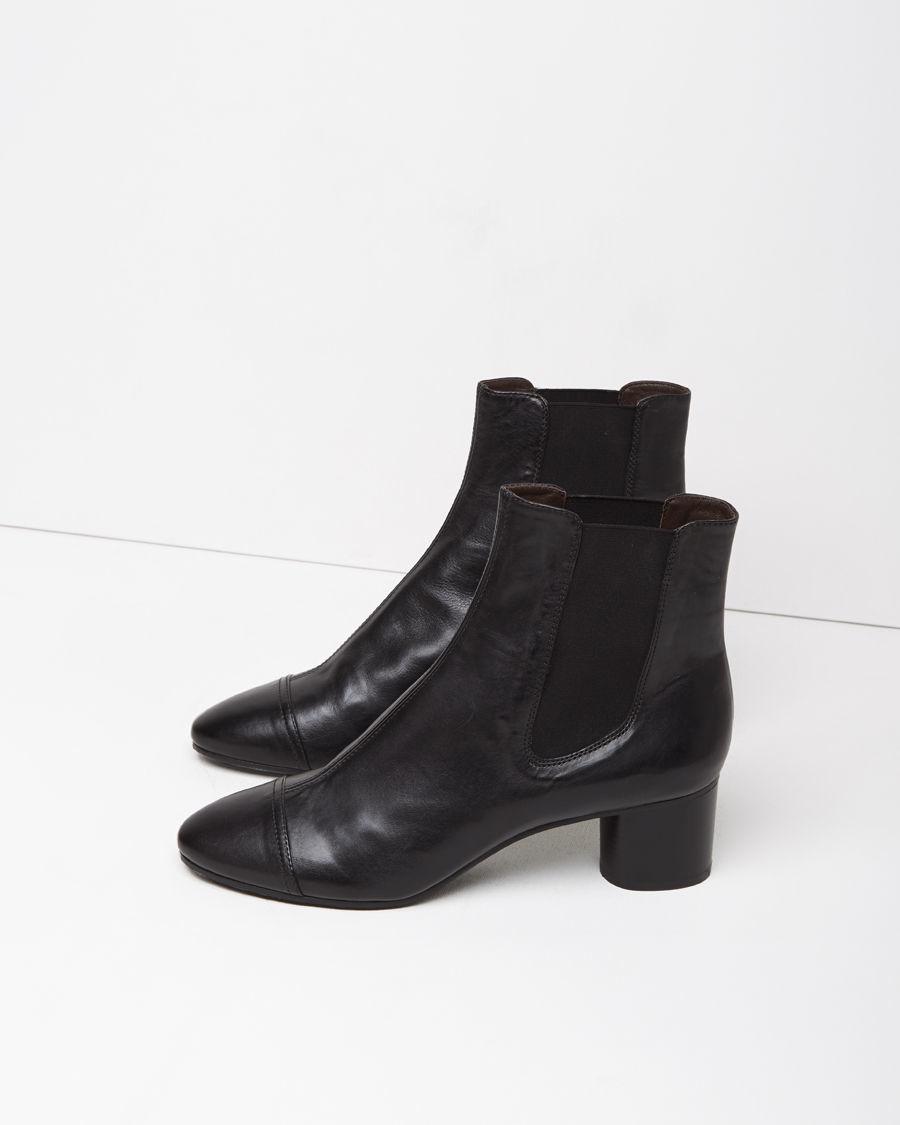 isabel marant danae leather ankle boots in black lyst. Black Bedroom Furniture Sets. Home Design Ideas