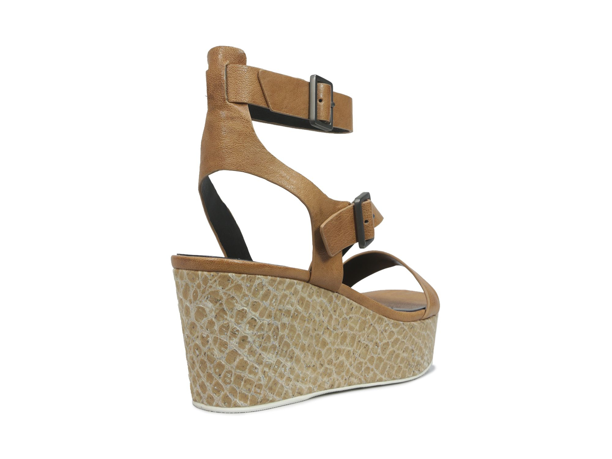 8921063e16a Elie Tahari Open Toe Platform Wedge Sandals - Mustique in Brown - Lyst