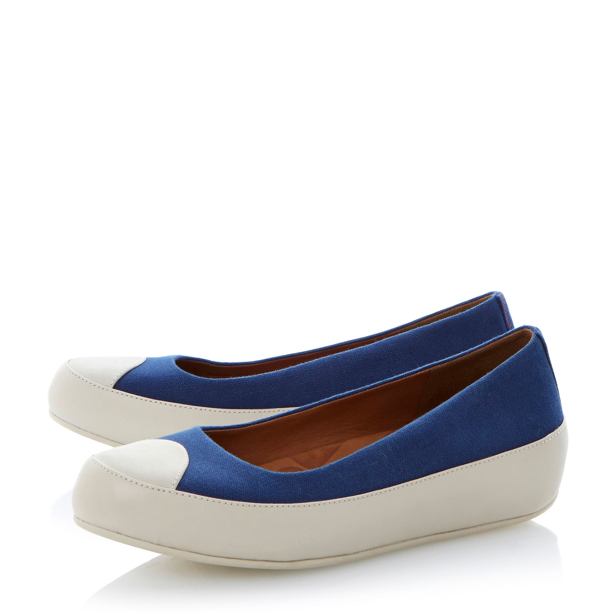 fitflop due canvas toe platform ballerina shoes in