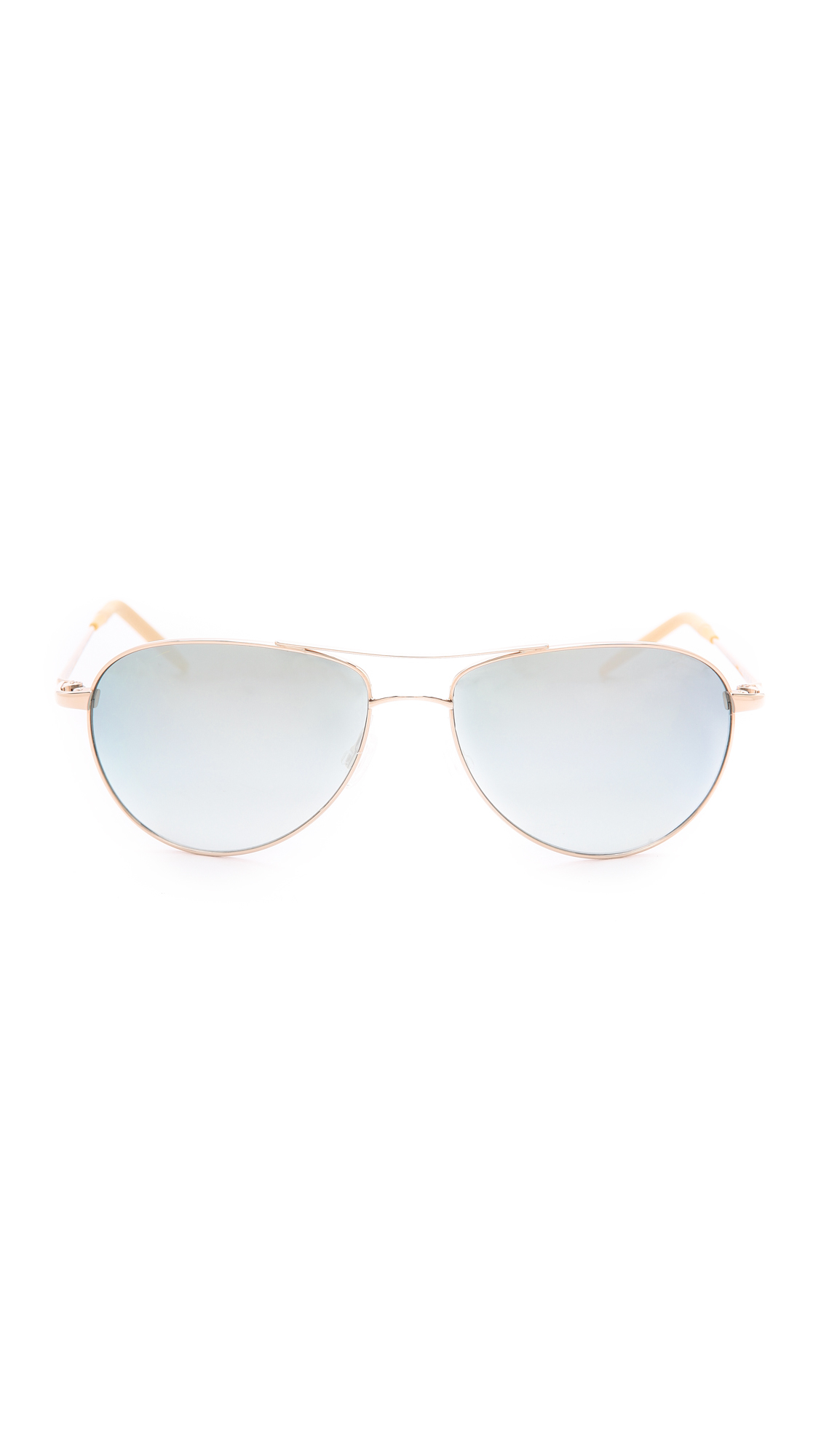 6dce15985f18 Lyst - Oliver Peoples Benedict Mirrored Sunglasses - Gold Steel ...