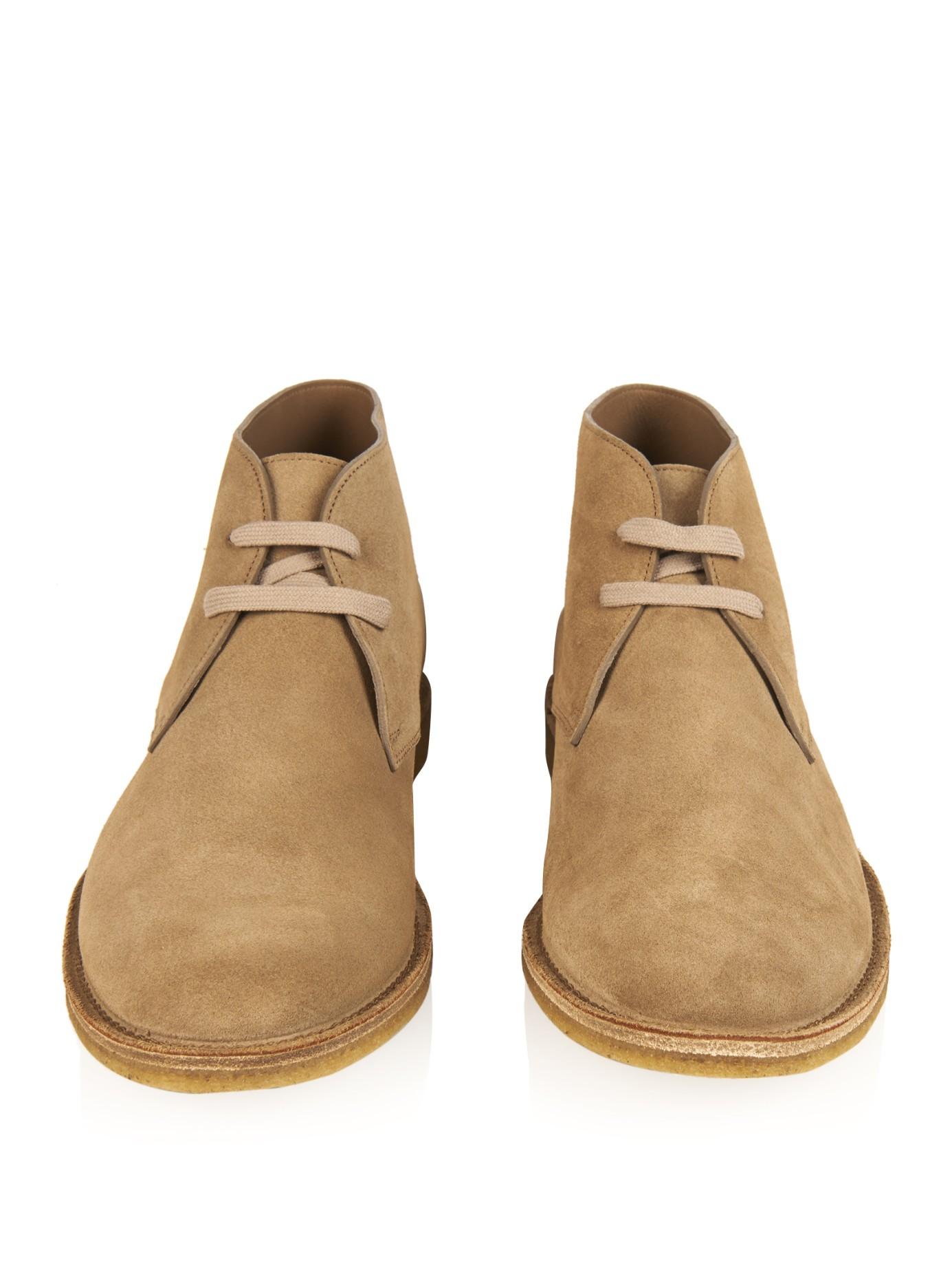 Bottega veneta Suede Desert Boots in Natural for Men | Lyst