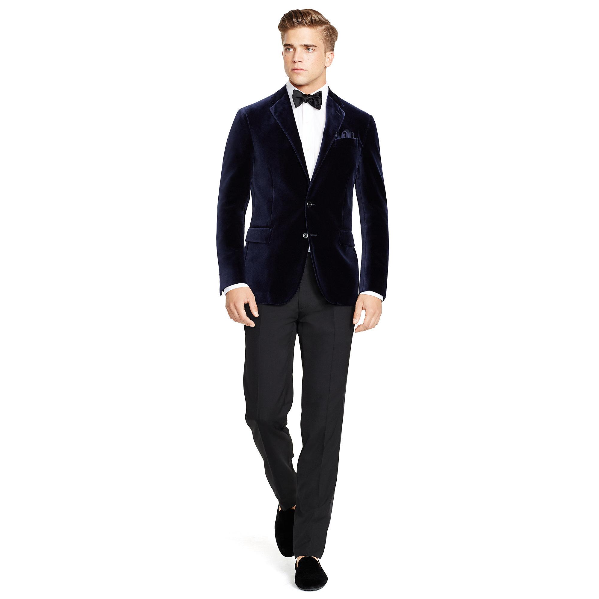15a22319e Lyst - Polo Ralph Lauren Polo Velvet Sport Coat in Blue for Men