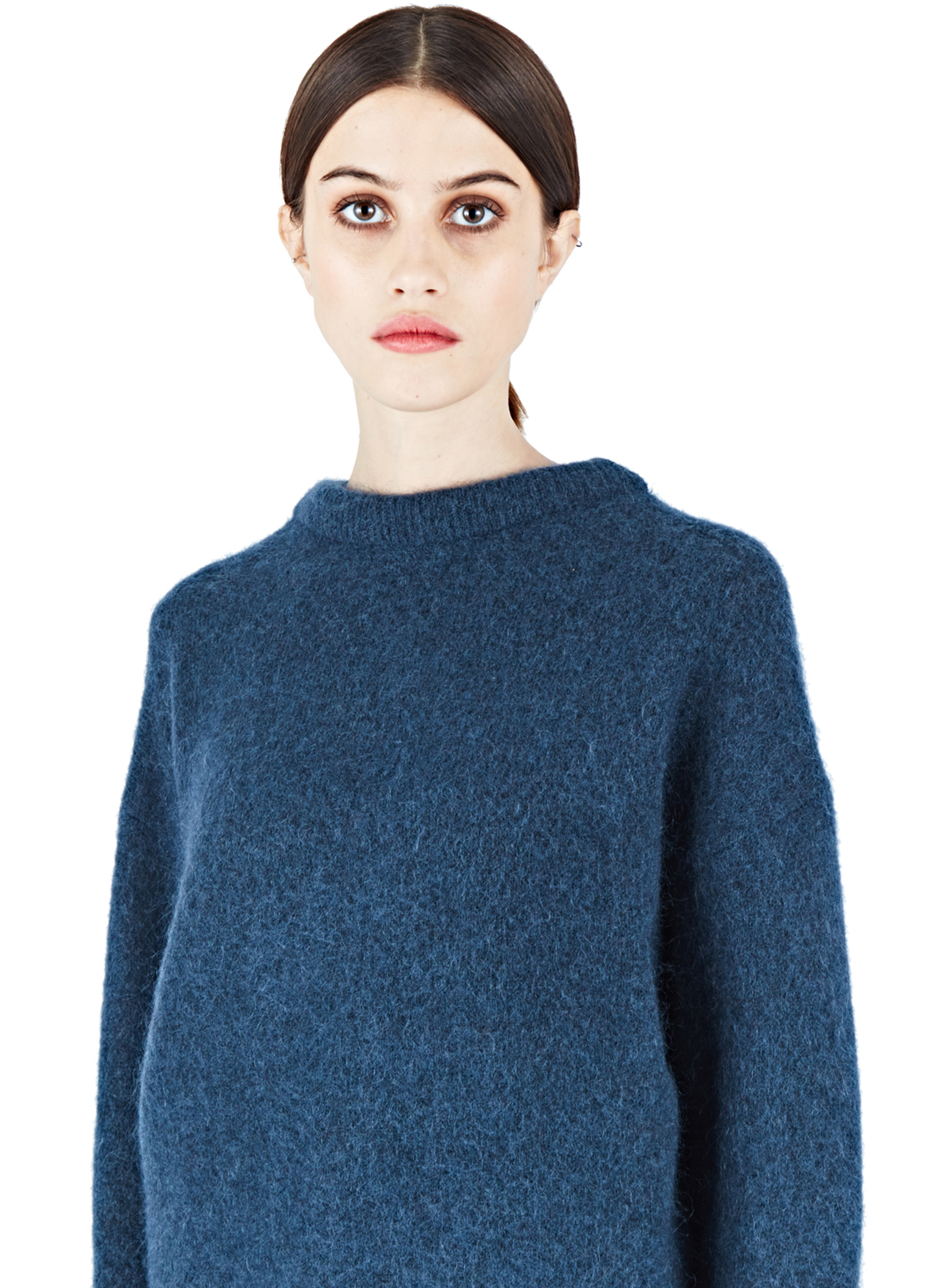 acne studios dramatic mohair sweater in blue lyst. Black Bedroom Furniture Sets. Home Design Ideas
