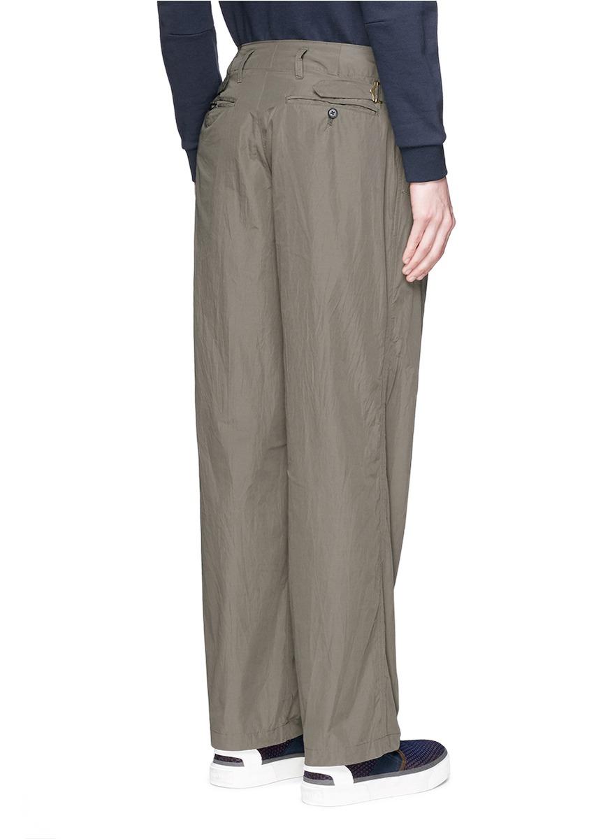 Kolor Side Adjuster Pants In Green For Men Lyst