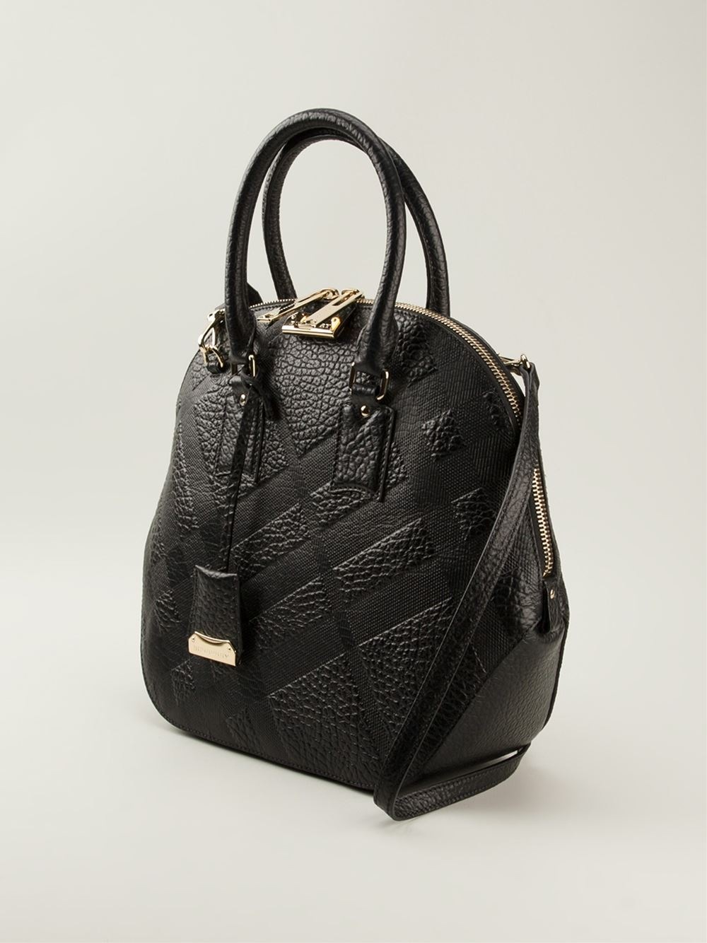 f2103a60a7af Lyst - Burberry The Medium Orchard Tote in Black