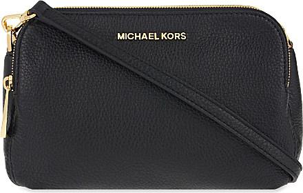 MICHAEL Michael Kors Bedford Medium Leather Messenger Bag in Black ... 64622684c4426