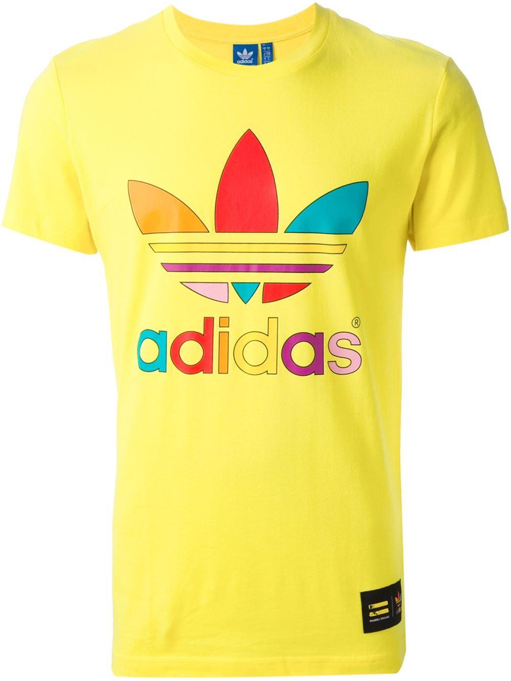 Adidas shirt Originals' supercolour 't shirt Adidas en amarillo para hombres Lyst 262045
