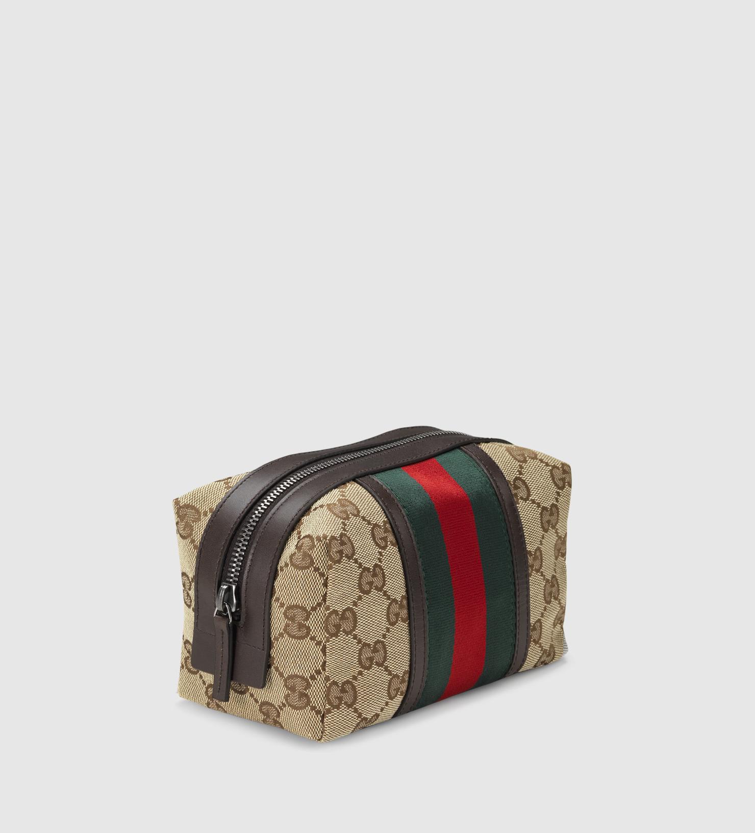 8297fb83e138 Gucci Original Gg Canvas Web Cosmetic Case - Lyst