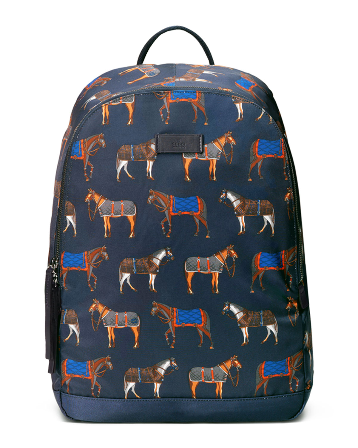 Lyst - Gucci Horse-print Backpack in Blue for Men 3347b1d2eb