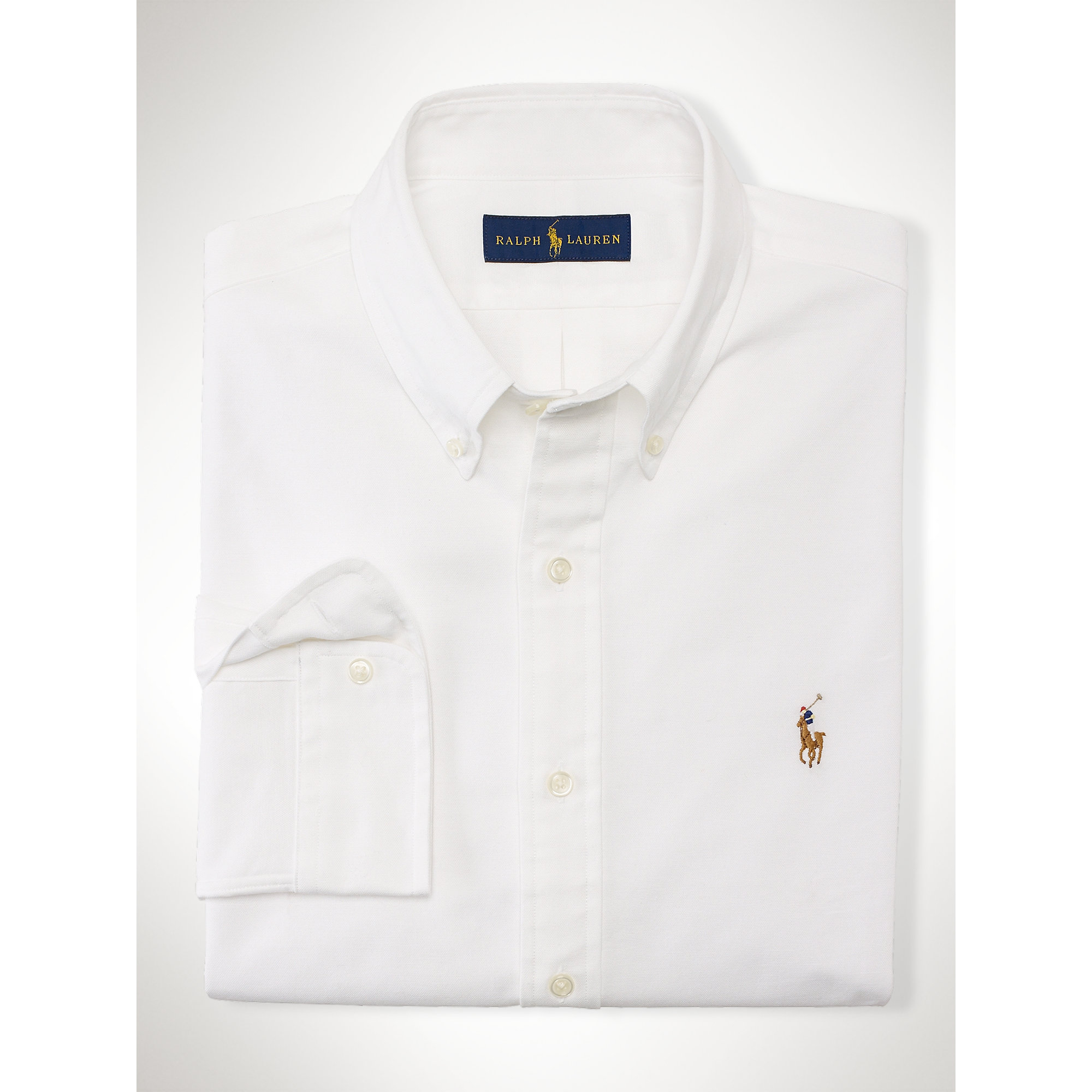 309c6061 Polo Ralph Lauren Slim-fit Stretch Oxford Shirt in White for Men - Lyst