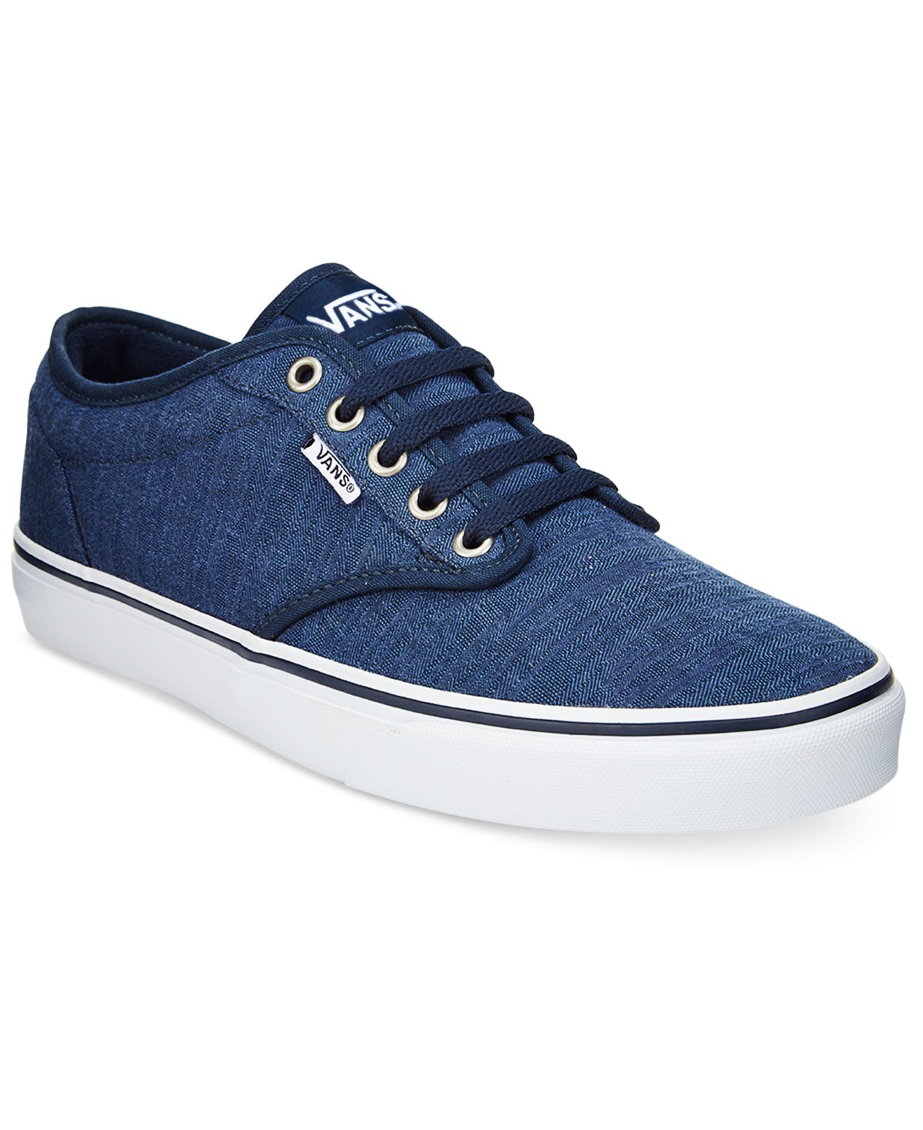 vans mens atwood lowtop sneakers in blue for men lyst