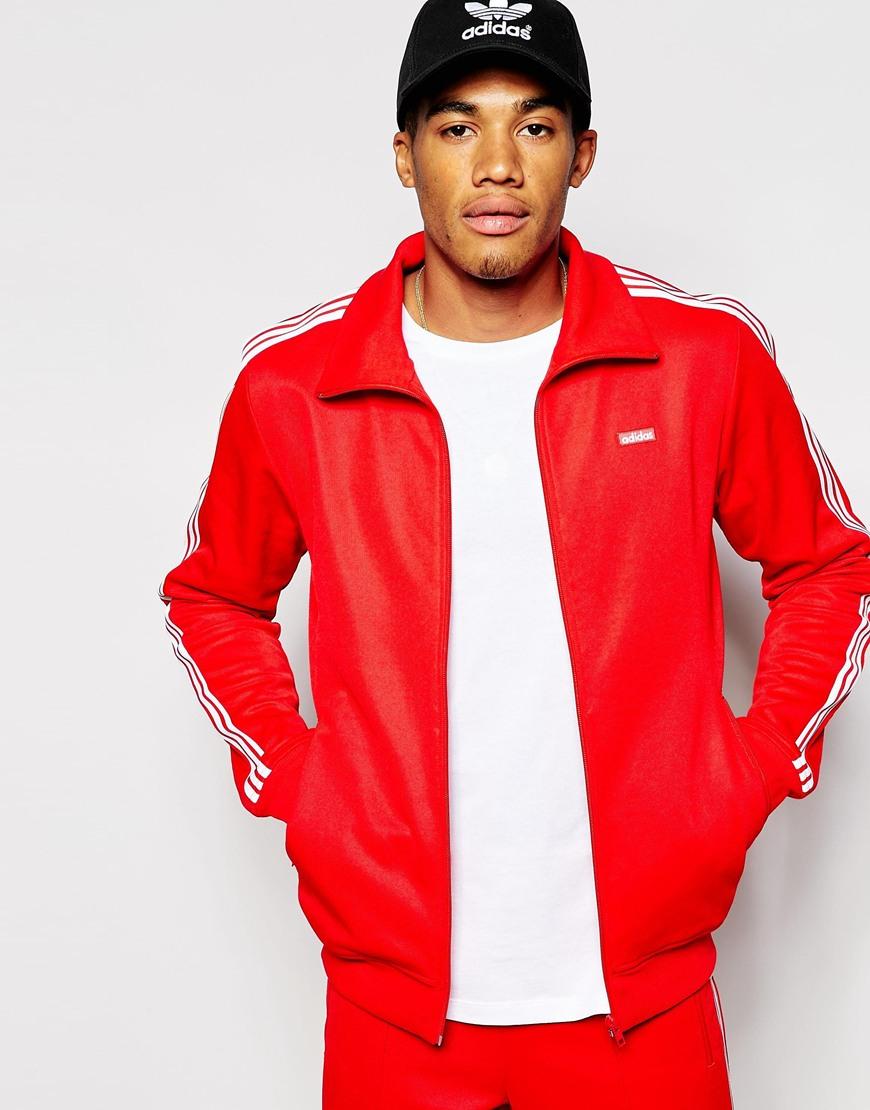 Adidas Originals Red Beckenbauer Track Jacket Ab7767 for men