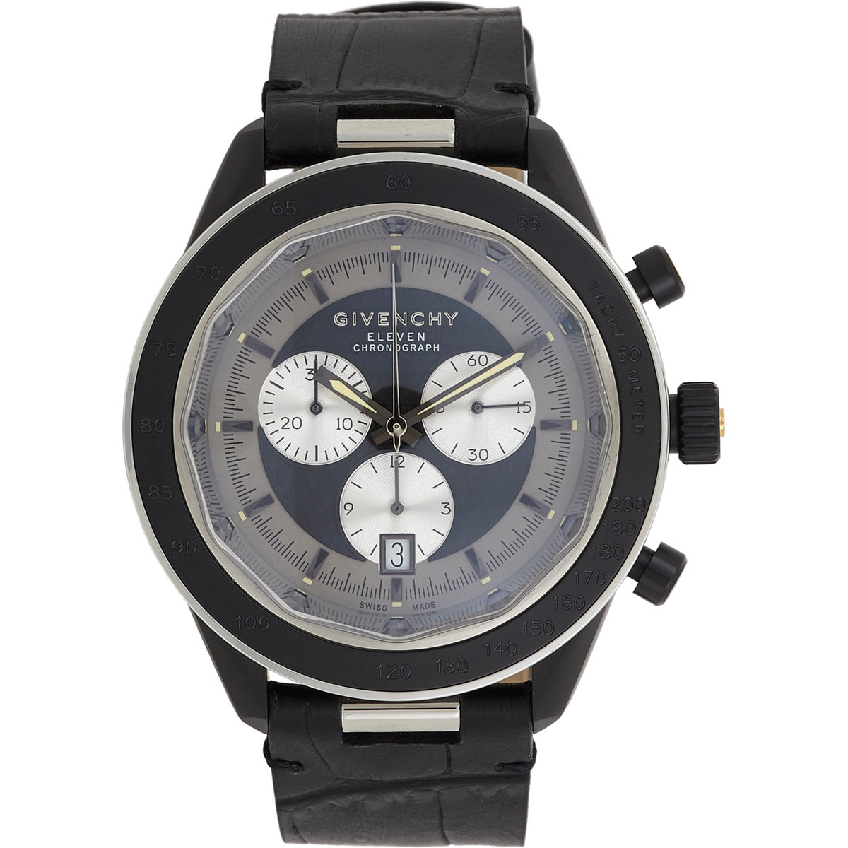 Givenchy eleven chronograph watch in black lyst for Givenchy watches