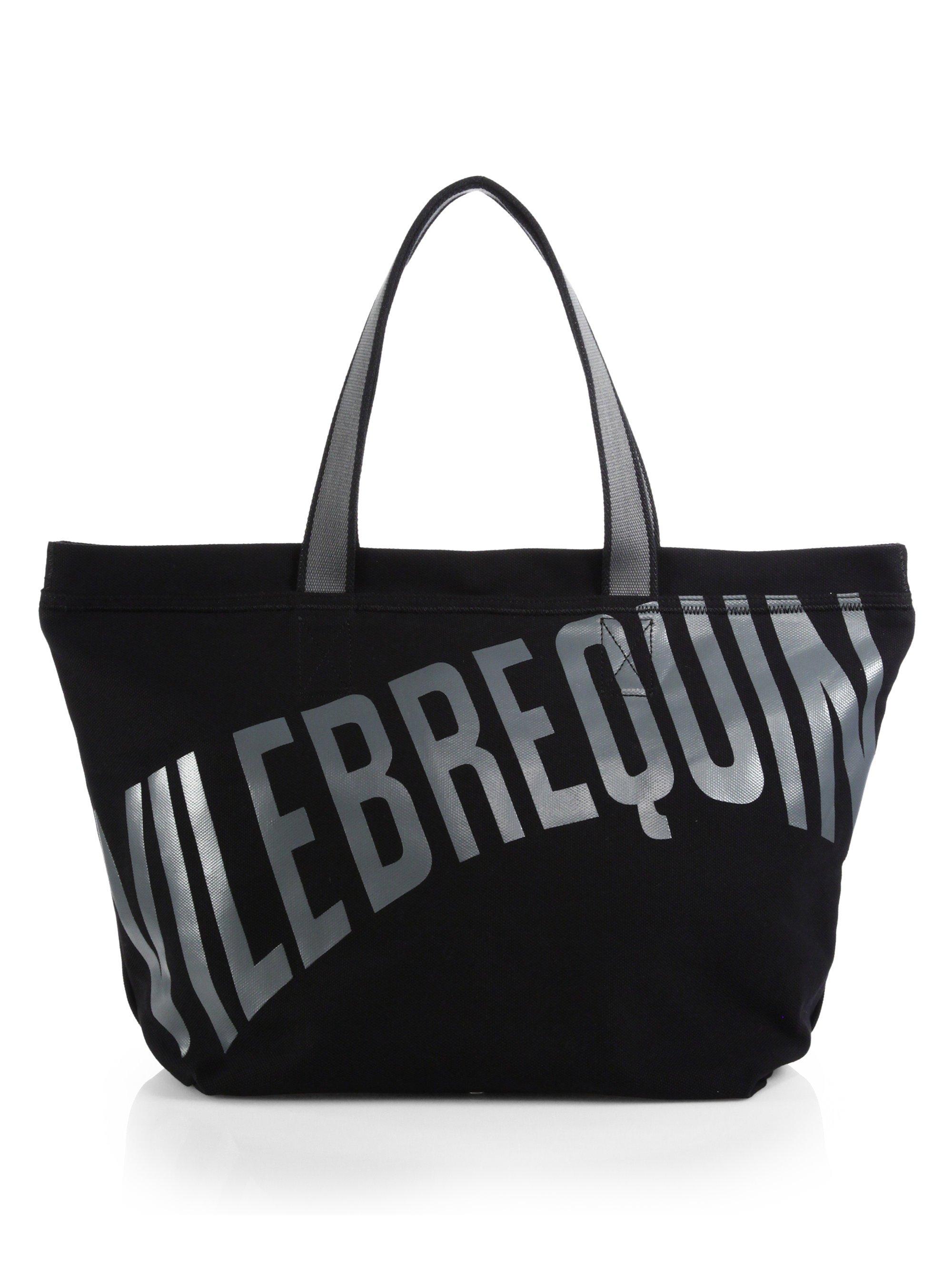 Lyst Vilebrequin Logo Beach Tote In Black For Men