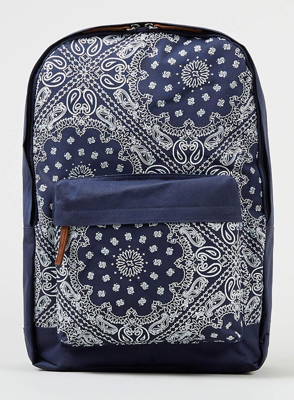 Topman Navy Bandana Backpack In Blue For Men Lyst