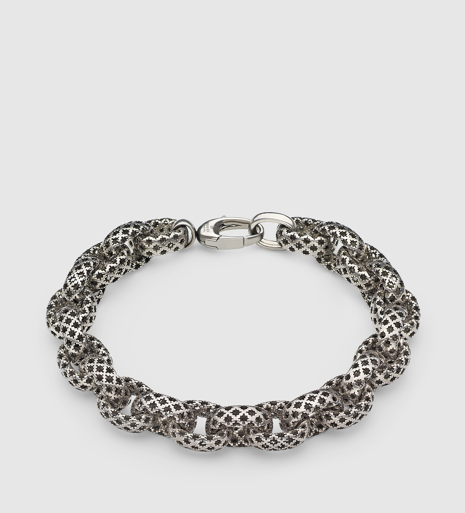 fa0cd6633 Gucci Diamantissima Bracelet in Metallic for Men - Lyst
