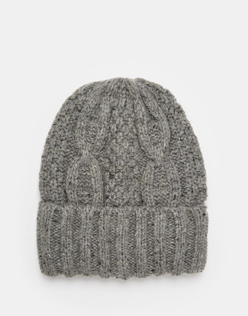 Beanie in Wool - Grey Selected wT7EFwQv