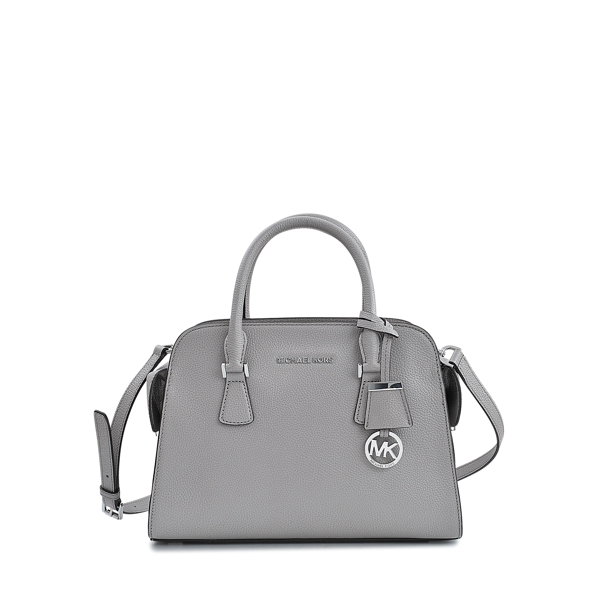 c5434d83826c Michael Kors Harper Medium Satchel Bag in Gray - Lyst