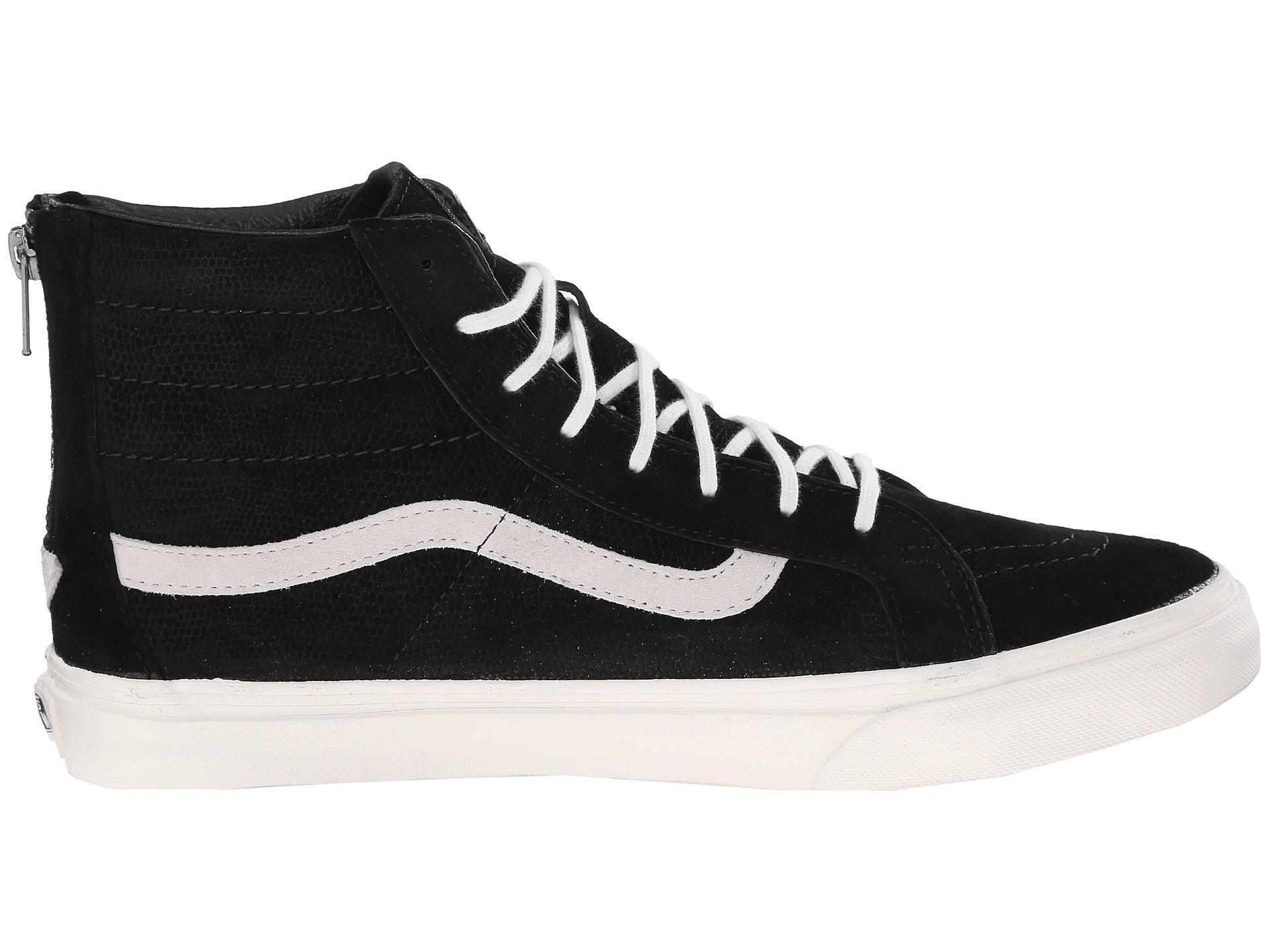 Unisex Lizard Emboss SK8-Hi Slim Zip Sneaker