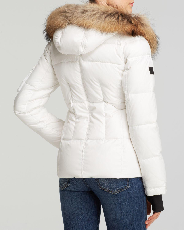 Sam. Blake Short Down Jacket in White | Lyst