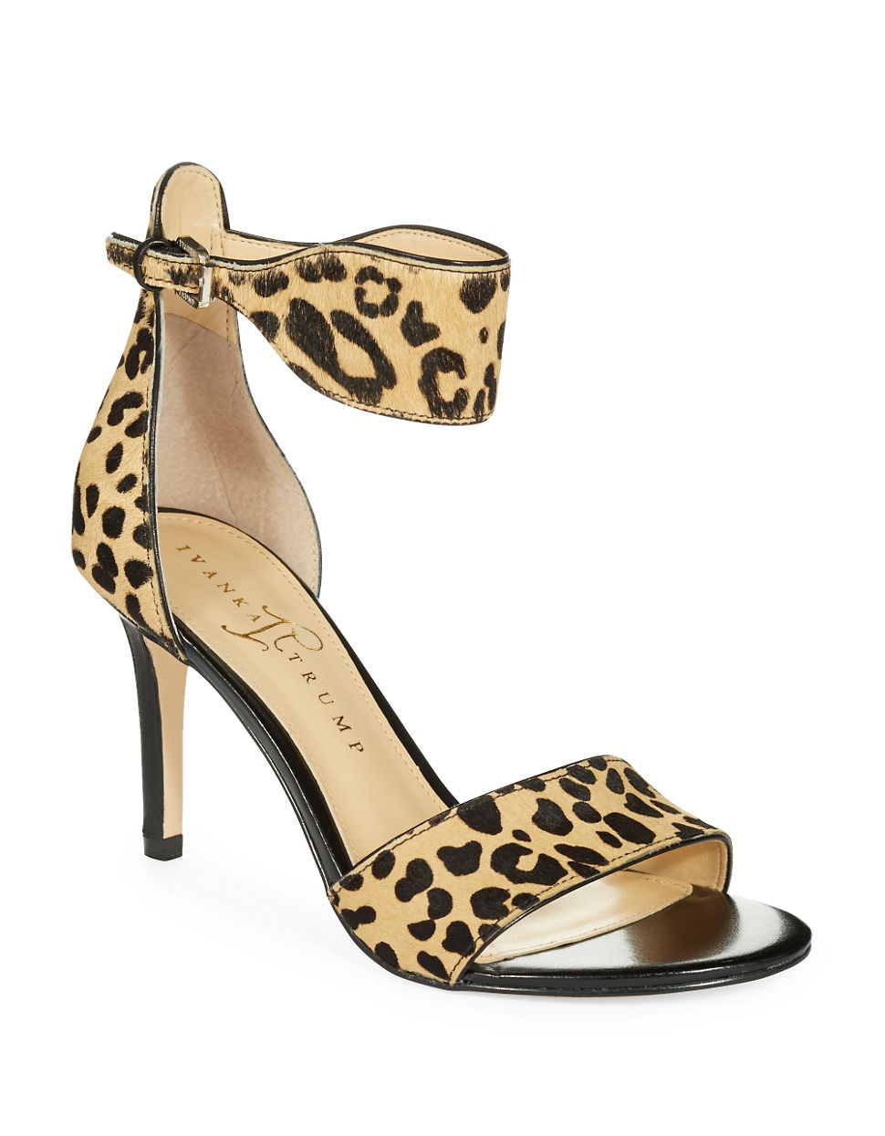 Ivanka Trump | Animal Gelana Dyed Calf Hair Open Toe Sandals | Lyst