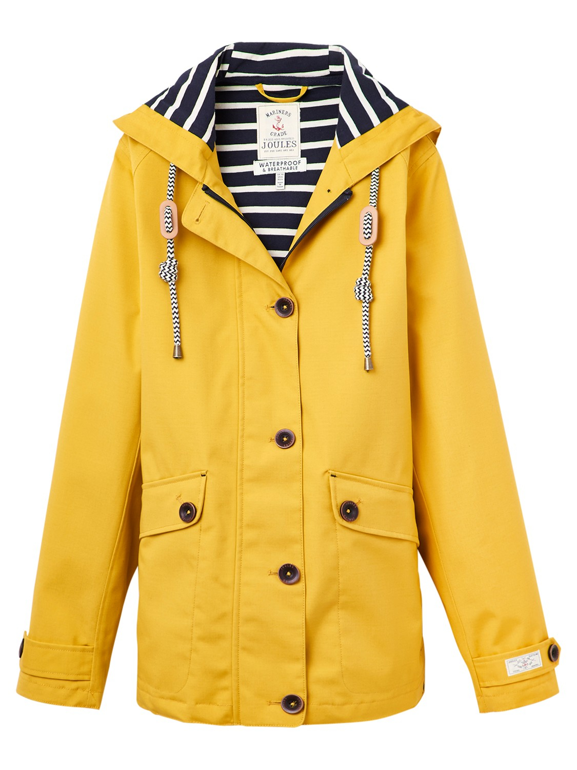 Joules Right As Rain Coast Waterproof Jacket in Yellow - Save 56 ...