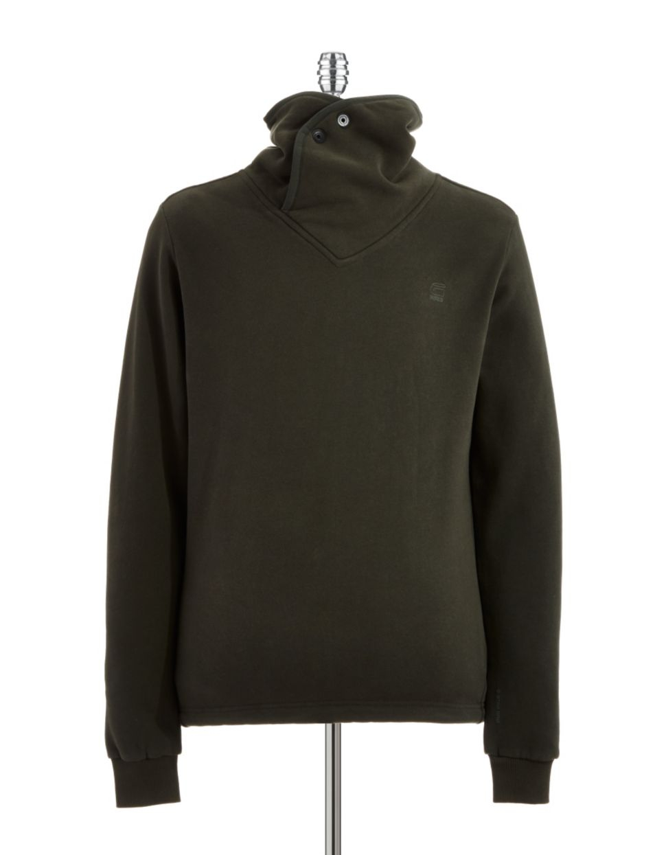 star raw funnel neck pullover in gray for men lyst. Black Bedroom Furniture Sets. Home Design Ideas
