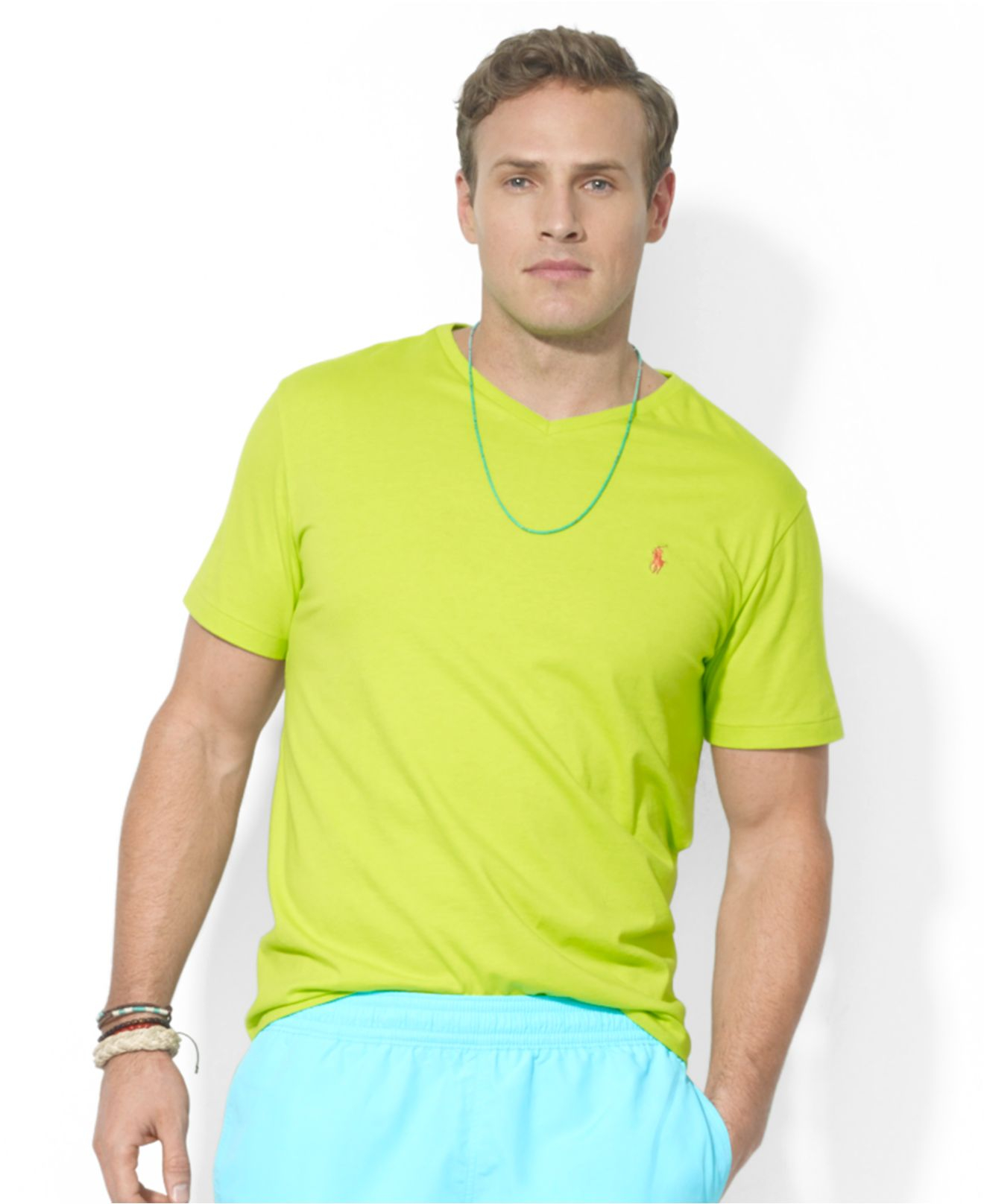 Polo Ralph Lauren. Green Polo Big and Tall Classicfit Vneck .