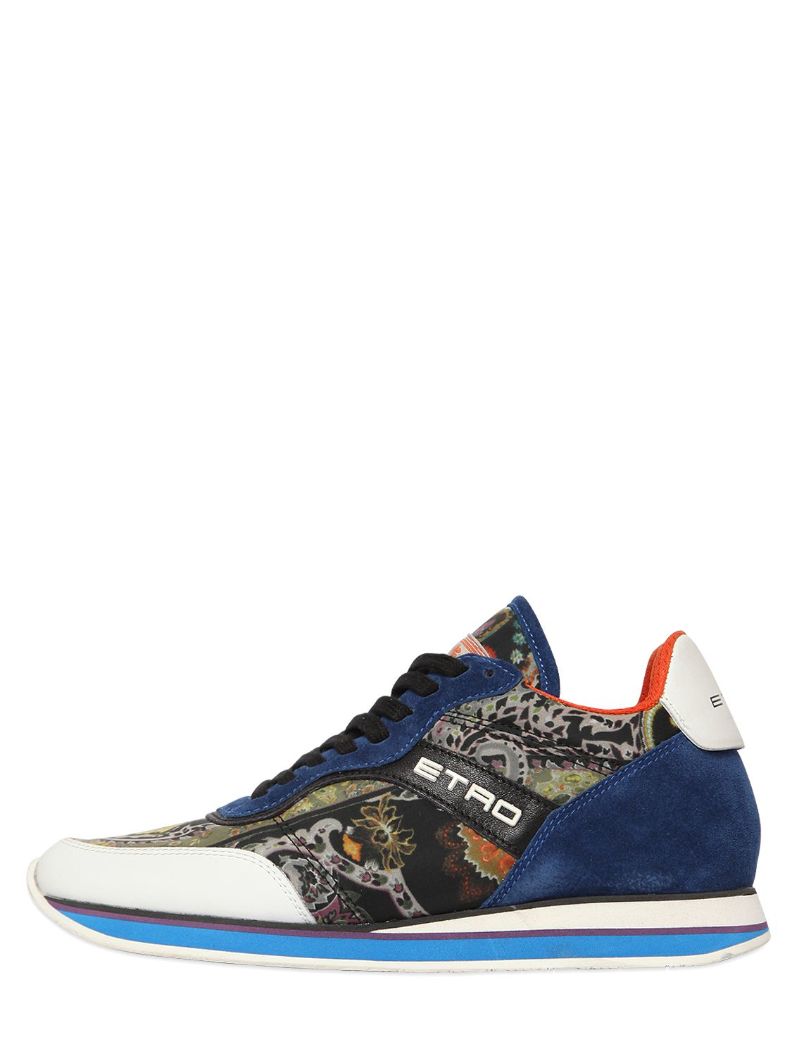 Embossed leather sneakers Etro LACmJ9g5