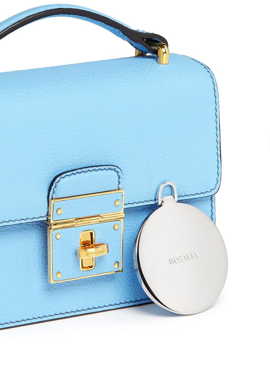 6a3d9e35e4b Lyst - Dolce   Gabbana  miss Rosalia  Leather Crossbody Bag in Blue