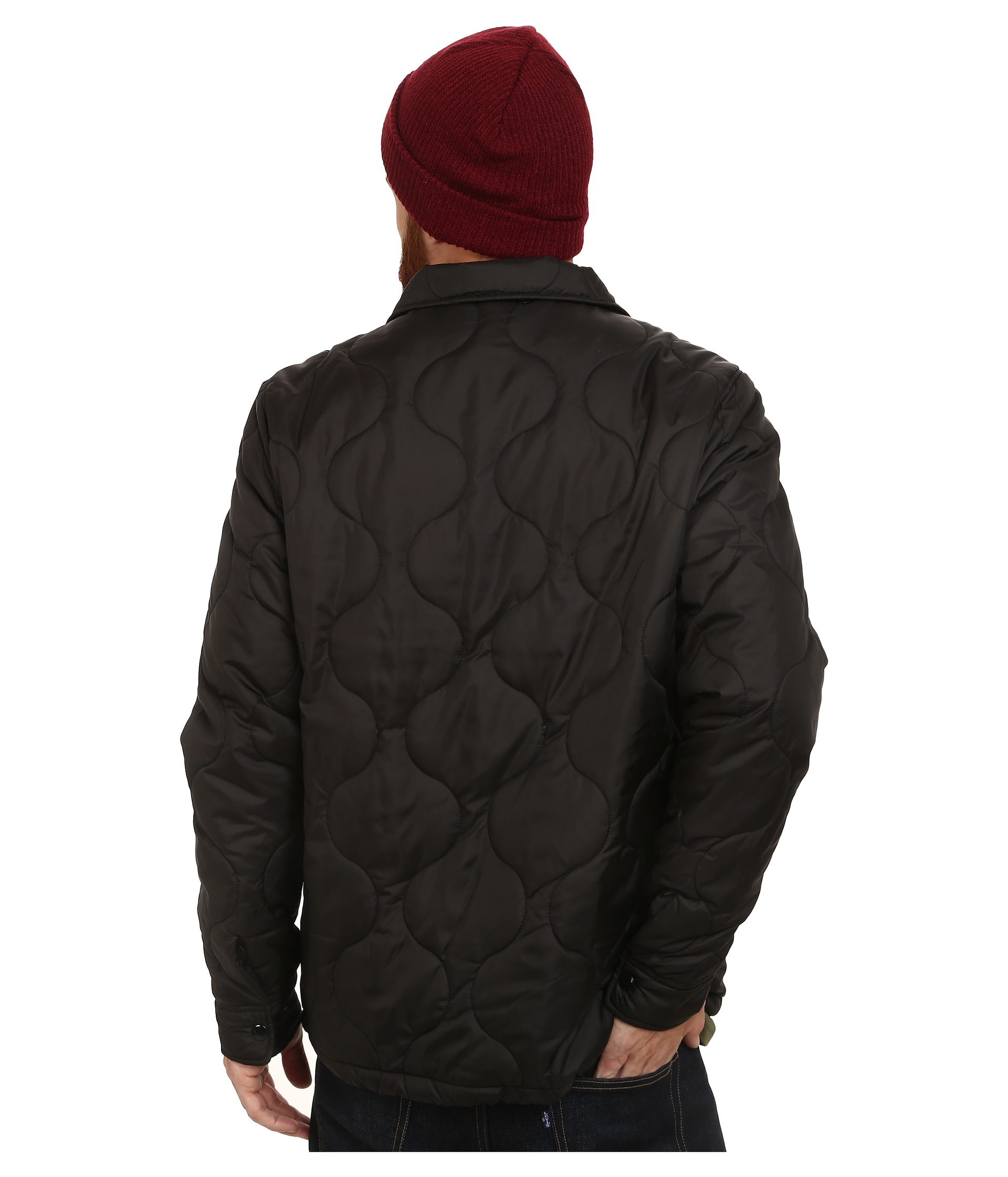 Lyst Huf Quilted Coaches Jacket In Black For Men
