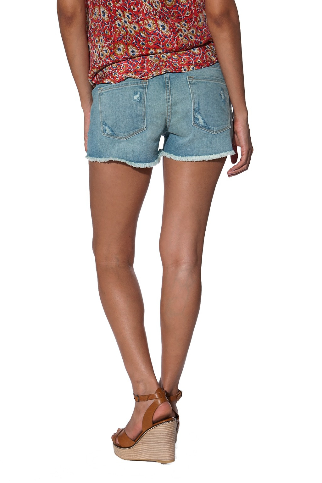 Frame denim Cut Off Jean Shorts in Blue (GREEN)