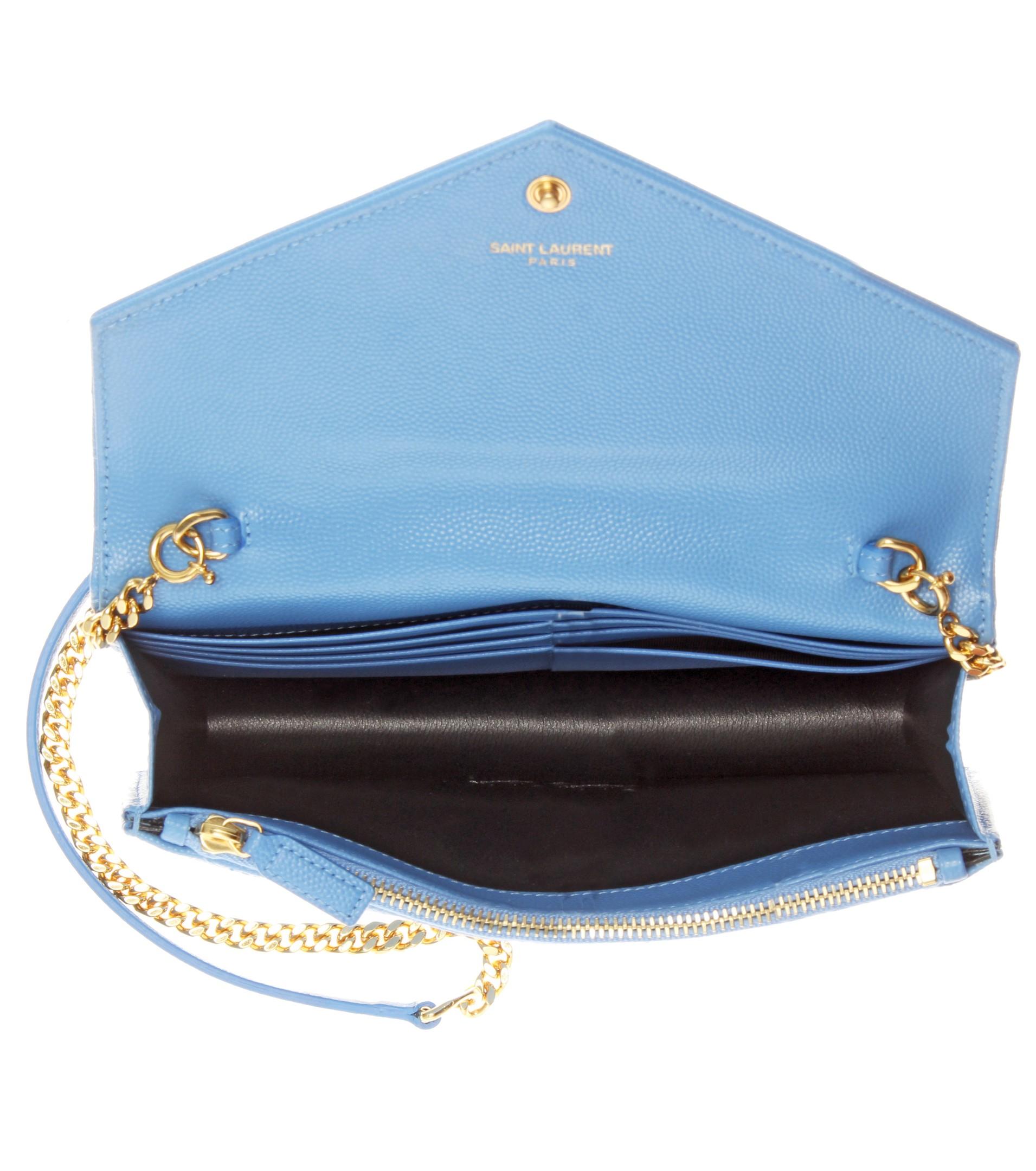ysl monogram crossbody - monogram saint laurent blogger bag in sky blue leather