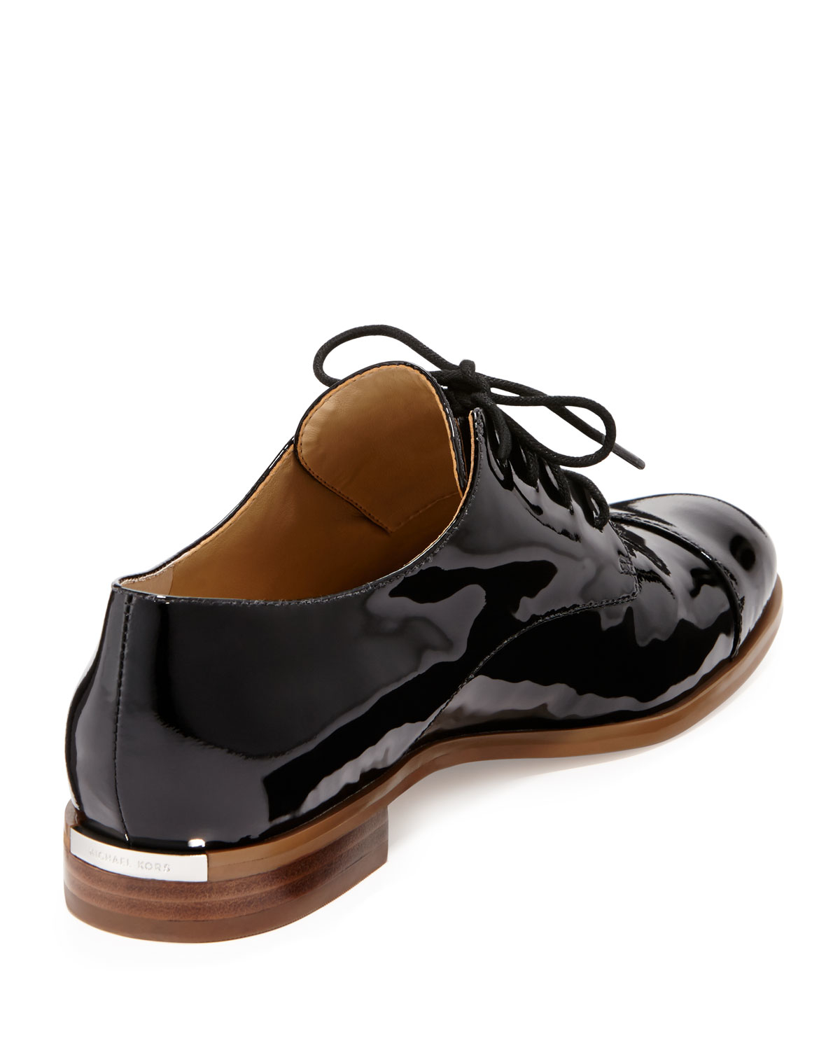 michael michael kors patent leather oxford shoes in