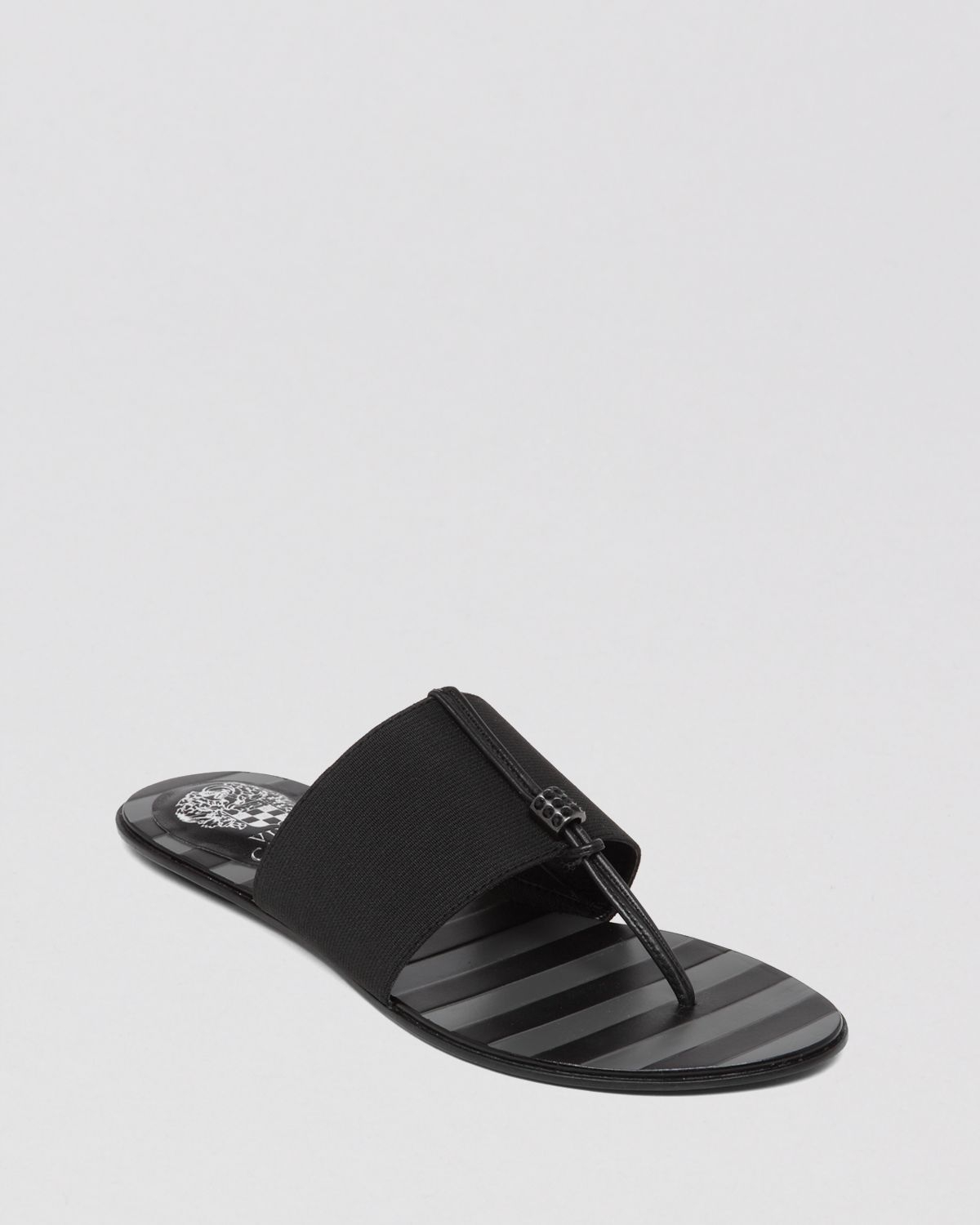 Vince Camuto Flat Stretch Thong Sandals Wayne In Black Lyst